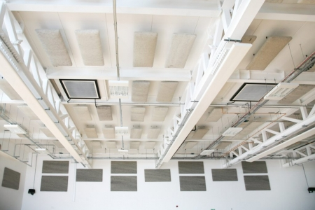 Woolly Shepherd Natural Acoustics Wall Panels and ceiling suspended clouds