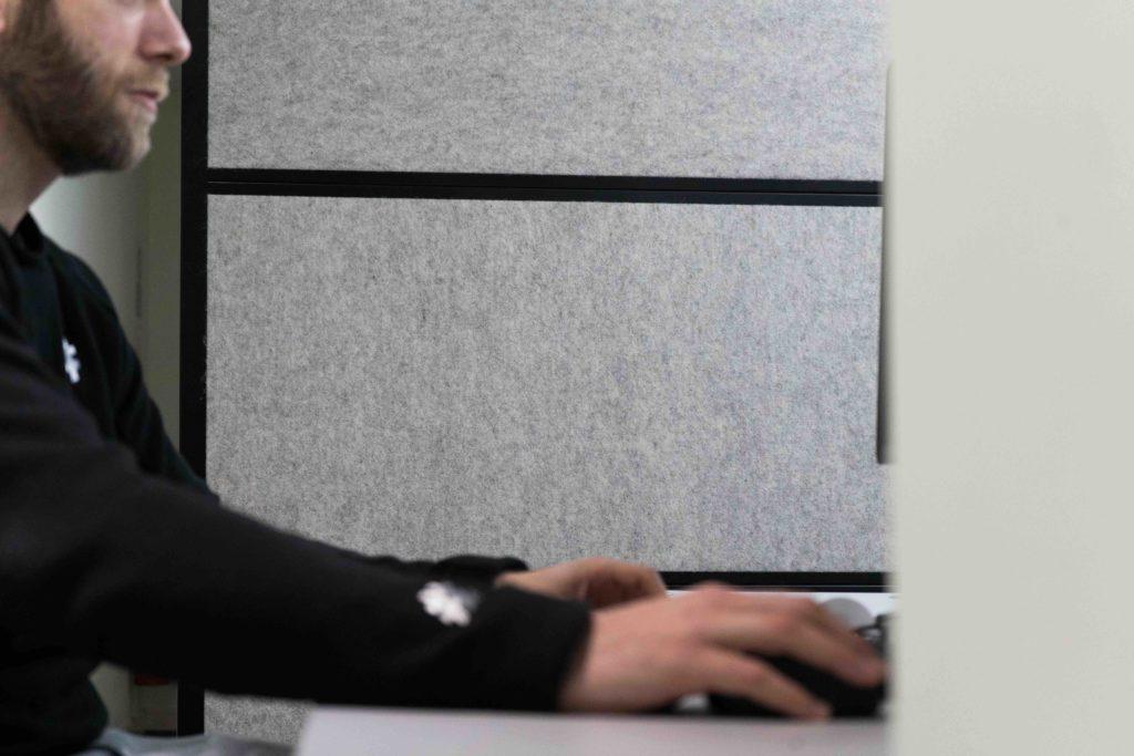 Woolly Shepherd Natural Acoustic Office Screen